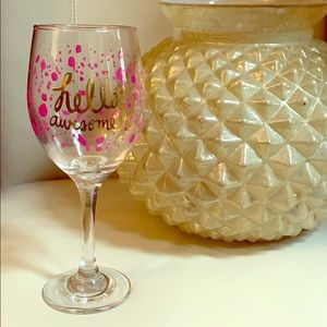 New In Box. Hello Awesome Wine Glass